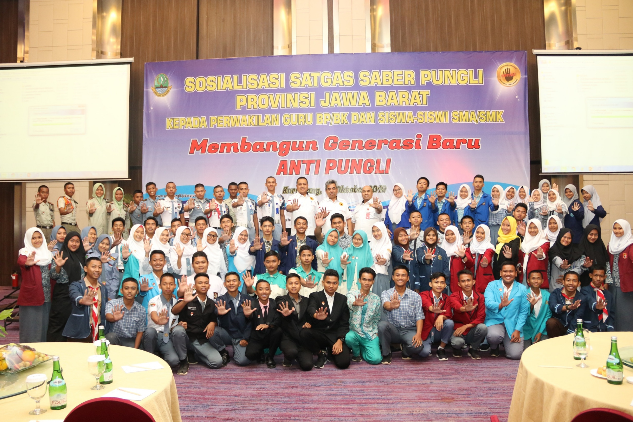 saberpungli jabar - Satgas Saber Pungli Jabar Bersinergi dengan Guru dan Siswa SMA/SMK